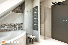 Projekt domu Dom w awokado - ARCHON+ Corner Bathtub, Alcove, Bathroom, Behance, House, Washroom, Full Bath, Bath, Bathrooms