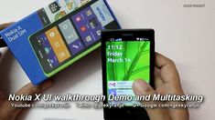 Fastlane and multitasking showing Nokia X device   Check out these video demos to multitasking and the new Fastlane experience you can see Nokia's first Android-based smartphone Nokia X.