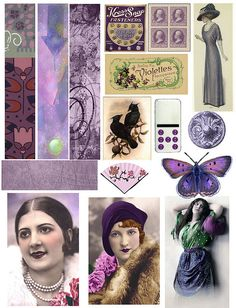 Purple by PaperScraps, via Flickr  free collage sheets