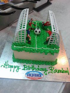 #coldrock #soccer birthday cake