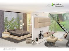 Sims 4 CC's - The Best: Momentum Bedroom by SIMcredible!