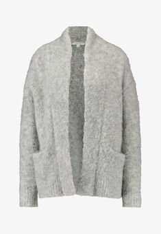 Opus DOLKE - Strickjacke - iron grey melange - Zalando.at School Outfits, Iron, Sweaters, Clothes, Fashion, Lace Cardigan, Jackets, Breien, Outfits