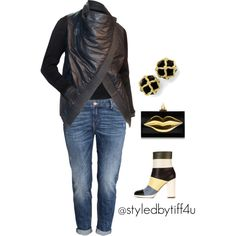 A fashion look from October 2015 featuring H&M jeans, Valentino boots and Charlotte Olympia clutches. Browse and shop related looks.