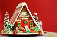 the solvang bakery - christmas - personalized gingerbread house