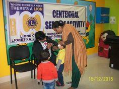 Guwahati Cosmopolitan #LionsClub (India) provided vision screenings to 76 children