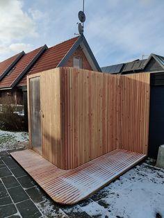Dream Home Design, House Design, Douglas Wood, Sauna Shower, Sauna Steam Room, Holland, Sauna Design, Outdoor Sauna, Timber Structure