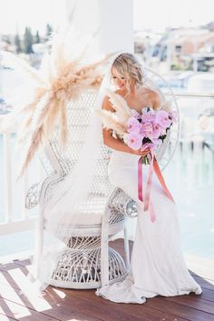 Bridal by Aubrey Rose dresses captured by Melissa's Photography at The Pavilion Mindarie as part of The Bohemian Flower Collective's styled shoot