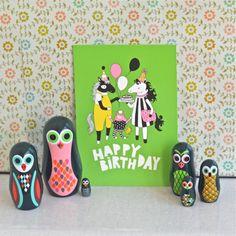 carte Happy birthday Highwaydesign deco-graphic.com Drupal, Open Source, Stickers, Happy Birthday, Deco, Design, Paper Mill, Happy Brithday, Urari La Multi Ani