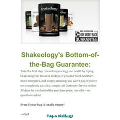 Purchase Shakeology here!  Never heard of Shakeology? Drop everything. This is the easiest thing you can do for your health. 70+ super foods in one glass and a multitude of clinically proven health benefits. Best part? It costs as low as $3.80/day and is guaranteed to work. Get your daily dose of dense nutrition like a boss and have one less thing to worry about. Contact me here or on my wellness page if you are interested in samples (I can mail them to you!)…
