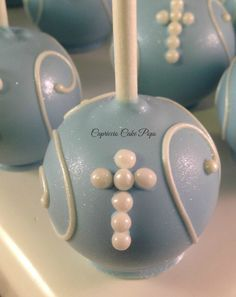 Baptism favors, Christening favors, baptism, first communion cake pops by Capricciocakepops on Etsy https://www.etsy.com/listing/227339746/baptism-favors-christening-favors