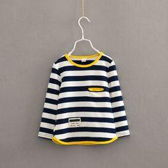 e0cf6f9c35ad Nice V-TREE Spring autumn long sleeve t-shirt for girls stripe boys shirts