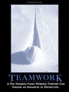 Teamwork - demotivator by despair.com