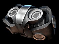This is a double cardan joint. Unlike the single cardan joint, this one is a constant velocity universal joint. You're much more likely to find one of these in your car than the single...