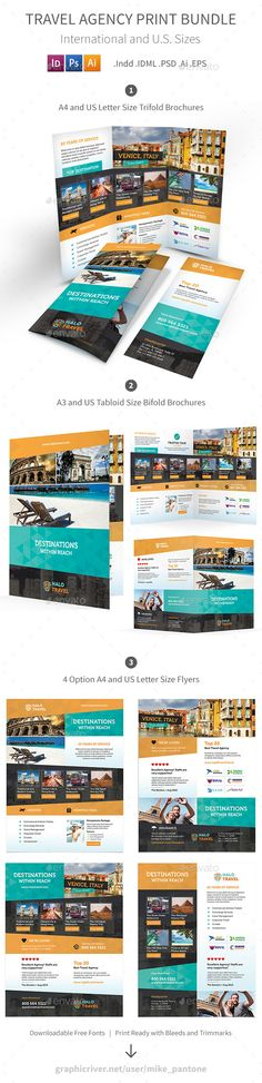 Corporate Bifold Brochure Template Brochures, Photoshop and Business - university brochure template