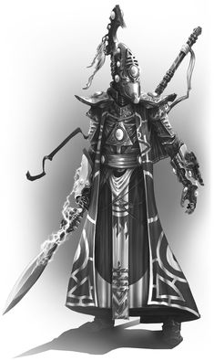 Eldar Farseer by Nikolaus Ingeneri Eldar 40k, Warhammer Eldar, Dark Eldar, Character Concept, Concept Art, Character Ideas, Character Design, Eldar Farseer, Sci Fi Models
