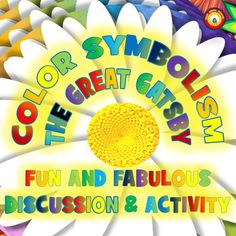Color Symbolism adds so much depth and beauty to The Great Gatsby! This activity is eight pages of discussion and questions about color symbolism in The Great Gatsby. I've provided discussion of color symbolism for eleven colors and light and dark imagery.