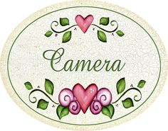 "targhetta ovale ""camera"" idea regalo, artigianato italiano, made in Italy: Amazon.it: Casa e cucina"