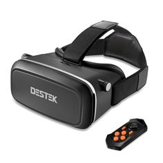 DESTEK 2016 Newest Version V2 Virtual Reality Headset 3D VR Glasses with NFC for 4~6 inch Smartphones for 3D Movies/Games,with Bluetooth Remote, Better than Google Cardboard - What are you searching about ...?