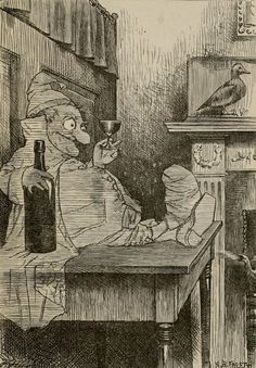 """The not-so-ghastly ghosts of Arthur B. Frost, from his illustrations for Lewis Carroll's """"Phantasmagoria."""""""