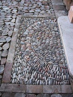 How To Make Beautiful Garden With Pebble Design Ideas Be.-How To Make Beautiful Garden With Pebble Design Ideas Best Pictures) Boden - Pebble Mosaic, Stone Mosaic, Pebble Art, Garden Paths, Garden Art, Garden Ideas, Diy Garden, Amazing Gardens, Beautiful Gardens