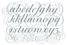 alfabeto copperplate - Buscar con Google