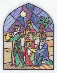 stained glass nativity scene pattern...can adapt to glass!