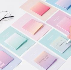 Rainbow Color Sticky Notes - Make a quick note of your daily tasks, ideas and reminders. Each memo pad has 30 adhesive sheets. Stationary Store, Stationary School, Cute Stationary, School Stationery, Stationery Design, School Suplies, Kawaii Pens, Pen Shop, Cute School Supplies