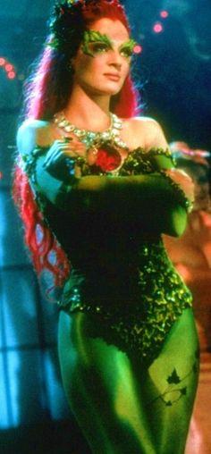Uma Thurman as Poison Ivy from Batman  Robin evil villian but fierce :D