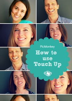 Learn how to bring out the best in your profile pictures with our Touch Up tutorial. Wrinkle remover, teeth whitener, air brush- no matter what your photo touch up needs, they are in your wheel house with PicMonkey.