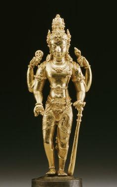 Vishnu, 8th-9th century (gold & silver)