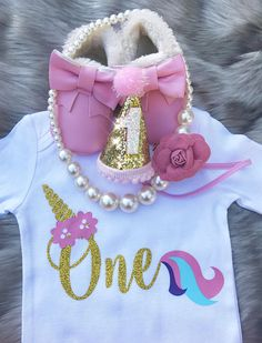 Baby Unicorn Onesie / Unicorn Onesie / Glitter Unicorn / One