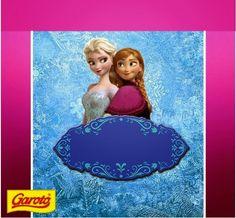 Frozen: Free Printable Kit with Fucsia Border.