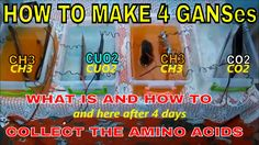 HOW TO MAKE Co2, Ch3 And Cuo2 GANS - WHAT IS AND HOW TO COLLECT THE AMIN...