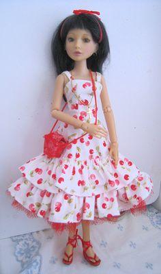 Delilah Noir in her cherry dress