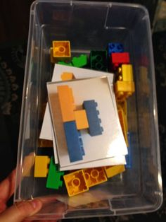 Lego building with visual model.  Special Education Station: Work Task Wednesday