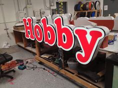 Hobby; channel letter wholesale sign