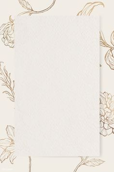 Download premium png of Rectangle gold frame with floral