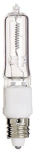 Satco S3165 120V 35-Watt T4 E11 Base Light Bulb, Clear by Satco. $6.05. Halogen lamps deliver a crisp, white light, not only is the quantity of the light greater than a standard incandescent of comparable wattage, but the quality of the light creates a higher contrast for reading and other tasks this also makes halogen perfect of display, accent and general lighting. Standard incandescent lamps and halogen lamps both use tungsten filaments. However, the filament in t...