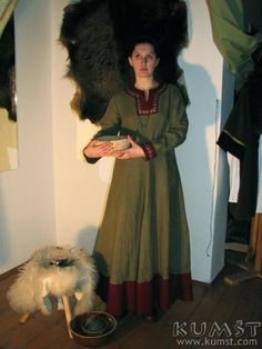"""""""Viking linen dress"""" I'm not sure about the reverse contrast facing - anyone have any thoughts?"""