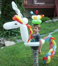 Rainbow unicorn birthday balloon!!!