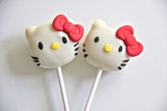 Hello Kitty Cake Pops! Maybe I can talk Whitney Askew into making me some...