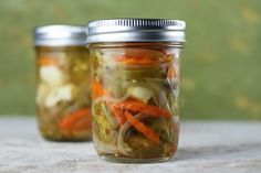 spicy pickled veggies   tried this recipe from my sis-in-law and it was delish! great on anything!
