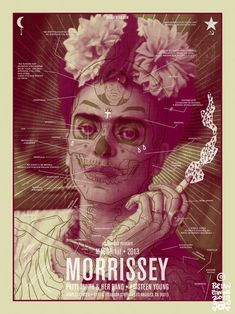 Gig posters for Morrisey // Design by Brian Ewing #music #graphicdesign