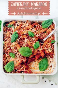 Zapiekany makaron z sosem bolognese