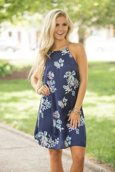 Picnic Under The Stars Floral Dress  SUPER DEAL!