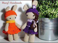crochet amigurumi rabbit / bunny / doll. Tutorial: bambolina / coniglietto amigurumi - YouTube