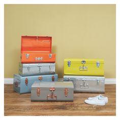 TRUNK Orange metal trunk | Buy now at Habitat UK