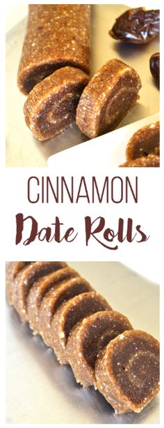 Cinnamon Date Rolls - Little Bits of. Need a sweet cinnamony treat? These Cinnamon Date Rolls have protein and no refined sugars! Just a few ingredients make the the perfect clean treat! Vegan Sweets, Healthy Desserts, Raw Food Recipes, Dessert Recipes, Cooking Recipes, Date Recipes Snacks, Date Recipes Vegan, Date Sugar Recipes, Cooking Tips