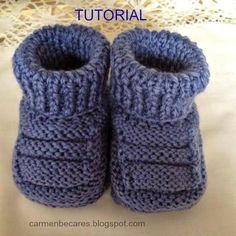 Ideas que mejoran tu vidaCollection of Knit Ankle HighHandmade baby booties for babyPattern in Spanish but a step by step tutorial makes it easy…Discover thousands of images about DIY Adorable Knitted Baby Booties da fare subito. Baby Knitting Patterns, Baby Booties Knitting Pattern, Baby Shoes Pattern, Knit Baby Booties, Crochet Baby Shoes, Knitting For Kids, Crochet Slippers, Baby Patterns, Knitted Baby