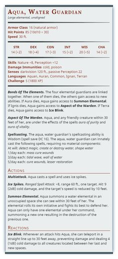 580 Best 5e Homebrew Monster images in 2017 | Note Cards, Dnd 5e